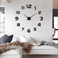 Jam Dinding Raksasa Besar DIY Diameter 80-130cm 002BB - Black