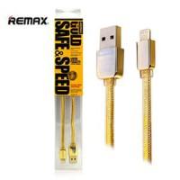 Remax Kabel Data Iphone 5,6,7,8, X Gold Cantik