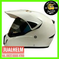 Helm Snail 310 Putih White / Helm Full Face / Helm Cross