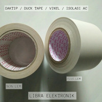 isolasi D tape atau Duck tape isolasi AC plus lem