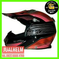 Helm Snail 315 Merah Red / Helm Full Face / Helm Cross