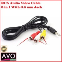 KABEL TV AUDIO VIDEO TO JACK AUX 3.5 MM 3GARIS - RCA CABLE