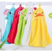 Hand Towel Bludru Halus Lap Tangan Microfiber Karakter Lucu