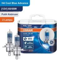 Osram Lampu Mobil H4 Cool Blue Advance 12V 60/55W - 62193CBA - Biru