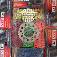 Gear Set SSS Vixion Old & Rantai SSS 428 HSB Colour Series