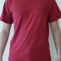 Kaos Polos Merah Marun Combed 30s