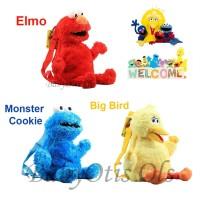 Tas Backpack Anak / Tas Boneka Anak / Tas Boneka Ransel Anak Elmo