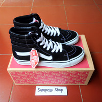 Sepatu Vans oldskool old skool sk8 high black white original premium