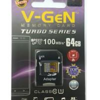 MicroSD V-GeN Turbo 64GB Class 10 85MB/S + Adapter (Memory HP VGEN)