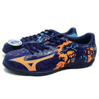 Sepatu Futsal Mizuno Ryuou IN (Blue Depths/Red Orange Aquarius)