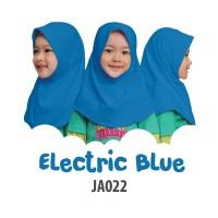Jilbab Afrakids JA022 size.S / M ~ electric blue ~ jilbab instan anak - Turquoise
