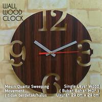 JAM DINDING KAYU / WOOD WALL CLOCK