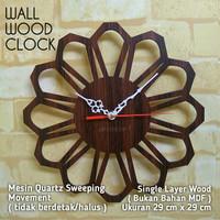 JAM DINDING KAYU UNIK / WALL WOOD CLOCK