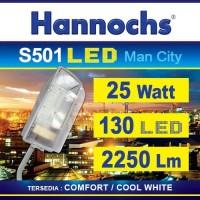 Lampu Jalan Hannochs LED S501 man city 25w 25 watt complete (kap+led)