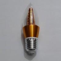 Lampu LED Bulb Candle Jantung Hias Lilin E27 Kuning 5W Warm White 5 W