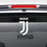 Stiker Bola Logo New Juventus Sticker Kaca Mobil Lambang Juve Baru