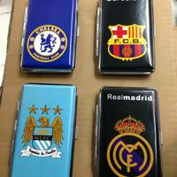 Kotak Tempat Rokok Kulit Chelsea Real Madrid Barcelona Manchester City