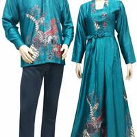 kemeja batik solo+dress panjang