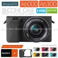 Silicone Sony Alpha A6000 A6300 Silikon Case / Sarung Silicon - Hitam, A6300 A6400