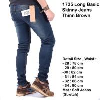celana skinny jeans panjang pria / celana panjang pria skinny navy