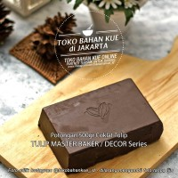Master Decor Dark Chocolate Cokelat Tulip Compound Coklat Batang 500gr