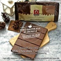 Milk Chocolate Compound Coklat Tulip Batang Cokelat Tulip Cocoa 200gr