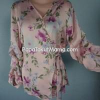 KIMONO TOP | Floral Silky Blouse | Atasan Wanita terupdate