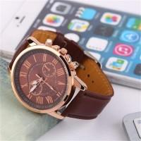 jam tangan wanita import fashion merk GENEVA Leather Quartz MURAH