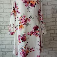 Blouse Import bahan tebal big size/dress midi/atasan motif sakura