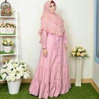 Baju muslim gamis toyobo kancing susun bawah cantik gamis only
