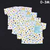 Baju Bayi LIBBY 4 Pcs Lengan Pendek Polkadot Newborn (0-3M)