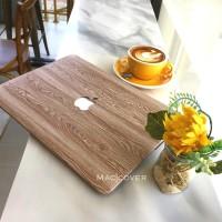Macbook Pro 13 Inch Touchbar Non A1706 A1708 Cover Hard Case Wood Kayu