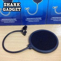 Pop Filter Double Layer Windscreen for Microphone / Mic Stand Arm