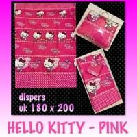 Jual Bedcover set  sprei ukuran 180X200 Hello kitty bahan tidak luntur