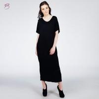 BODYTALK-DRESS LENGAN PENDEK WONDERWALL DRESS 72051T9BK)