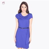BODYTALK-DRESS LENGAN PENDEK OVER SLAG BLUE DRESS 72008T6BL)