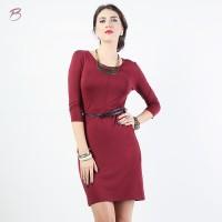 BODYTALK-DRESS LENGAN 3/4 SIMPLE CUT DRESS 73016T6MA)