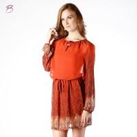 BODYTALK-DRESS LENGAN PANJANG PARSLEY DRESS 74012T8OR)
