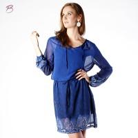 BODYTALK-DRESS LENGAN PANJANG PARSLEY DRESS 74012T8BL)