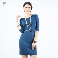 BODYTALK-DRESS LENGAN 3/4 SIMPLE CUT DRESS 73016T6NA)