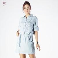 BODYTALK-DRESS LENGAN 3/4 CHAMBRAY BODYTALK DRESS 73013T2LL)