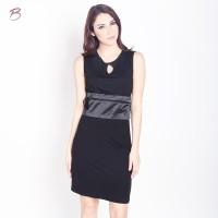 BODYTALK-DRESS TANPA LENGAN DRESSIE DRESS 71002T6BK)