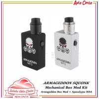 Armageddon Squonk Mechanical Box Mod + Apocalypse RDA Kit Vape Vapor