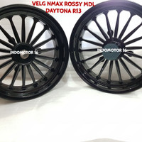 Velg NMax Rossy Model Daytona BLACK [350-400 R13]