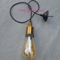fiting lampu gantung e27 aluminum botol tanpa edison filament vintage