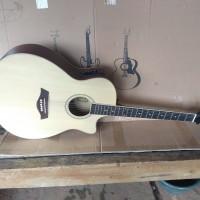 Gitar yamaha taylor cort jumbo akustik elektrik custom natural