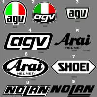 Sticker stiker Body Helm untuk repair repaint custom KYT INK ARAI ZEUS