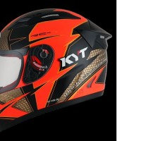 HELM FULLFACE ORIGINAL KYT MOTIF RC SEVEN RED FLUO BLACK GOLD