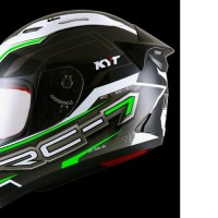 HELM FULLFACE ORIGINAL KYT MOTIF RC SEVEN BLACK WHITE GREEN FLUO