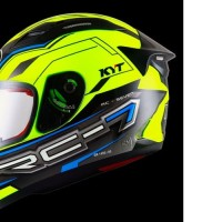 HELM FULLFACE ORIGINAL KYT MOTIF RC SEVEN YELLOW FLUO BLACK BLUE
